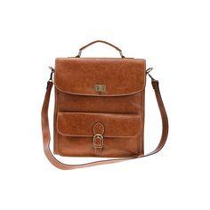 UrbanOutfitters.com > Folio Briefcase Bag (€200) ❤ liked on Polyvore featuring bags, handbags, accessories, purses, bolsas, shoulder bags, brown purse, folio bag, brown bag et folio