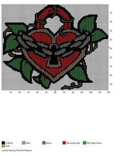 LOCKED HEART by RUTH ANN RITTACCO -- WALL HANGING