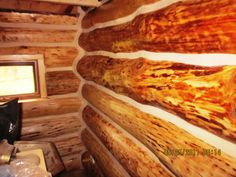 Professionally Applied Log Home Chinking