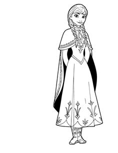 Heroes Project Exciting Anna Coloring Pages 83 For Your Free Coloring Book  With