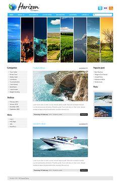 Template 34953 - Horizon Travel WordPress  Theme