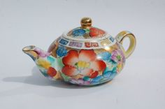 VINTAGE Teapot Hand Painted Chinese Miniature by REDceramics, £8.00