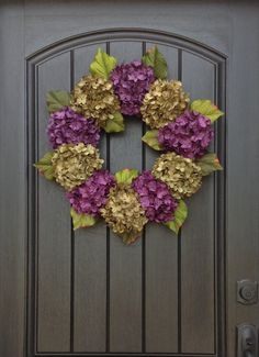 Hydrangea Wreath Spring Wreath Summer Wreath Grapevine Door Wreath Green Purple Hydrangea Floral Door Decoration Indoor Outdoor by AnExtraordinaryGift on Etsy