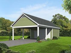 Two Bay Carport with attached workshop 22 X 40 carport with attached workshop. - Garage Plan 51536 - 2 Car Garage Plan Two Bay Carport with attached workshop 22 X 40 carport with attached workshop. 2 Car Garage Plans, Garage Workshop Plans, Carport Plans, Carport Garage, Pergola Carport, Shed Plans, Diy Pergola, Pergola Ideas, Detached Garage