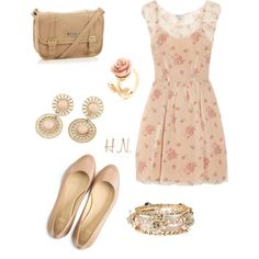 """""""Floral Dress Outfit"""" by godrocks0606 on Polyvore ~ Follow me on Polyvore! - Holly Nelms"""