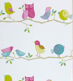 What a Hoot Wallpaper by Harlequin | Jane Clayton