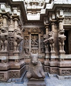 Various sculptures of Gods including Ganesha and Nandi. The Ganesha is considered to bring God Luck and fortune while Nandi is a vehicle of Lord Shiva.