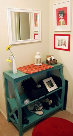 entry and Mudroom small Ideas   Smaller, portable entry storage options