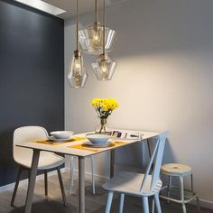 Meriall - Hanging Glass Pendant Lamp