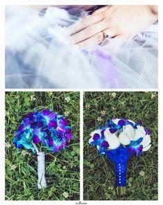 Blue Bridal Bouquet  Photography by www.evaimage.com
