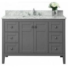 Ancerre Designs Maili Sapphire Gray 48-In Undermount Single Sink Birch