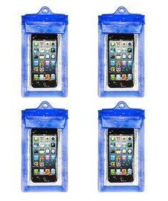 Look what I found on #zulily! Blue Universal Waterproof Smartphone Case - Set of Four #zulilyfinds