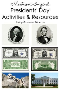 Roundup of Montessori-inspired Presidents' Day activities and resources for a variety of ages in the classroom or homeschool - Living Montessori Now Montessori Materials, Montessori Activities, Toddler Activities, Montessori Homeschool, Toddler Play, Homeschooling, Preschool Age, Preschool Lessons, Social Studies Activities