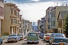 vintage everyday: Photo Taken in San Francisco at Same Time and Place as Frame from 'Vertigo', 1957