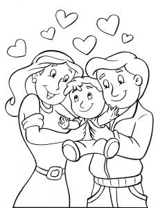 Parents Day Coloring Pages Family Coloring Pages, Truck Coloring Pages, Disney Coloring Pages, Coloring For Kids, Coloring Books, Preschool Bible Activities, Preschool Crafts, Bible School Crafts, Bible Crafts