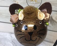 Glitter Ornaments, Christmas Ornament Crafts, Personalized Christmas Ornaments, Ornaments Ideas, Disney Ornaments, Angel Ornaments, Handmade Ornaments, Xmas Decorations, Handmade Christmas