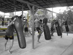 Muay Thai training in Pai, Thailand, charnchaimuaythai