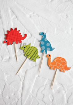 Dinosaur Cupcake Kit By Meri Meri Drake's Birthday, 2nd Birthday Parties, Birthday Ideas, Dinosaur Party, Dinosaur Birthday, Dinosaur Cupcake Toppers, Reptile Party, Knight Party, Bedroom Crafts