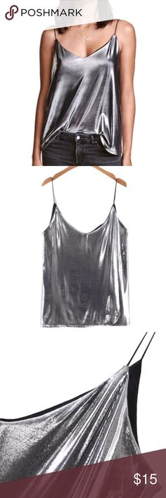 LIQUIDATING!! Reflective Soul Cami Tank cotton/polyester blend very shiny and slightly cropped Tops Camisoles