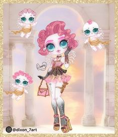 Anime Outfits, Cupid, Monster High, Happy Valentines Day, Fan Art, Drawings, Instagram, Venus, Girls