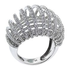 Exquisite Ribbon Diamond Ring | From a unique collection of vintage fashion rings at http://www.1stdibs.com/jewelry/rings/fashion-rings/