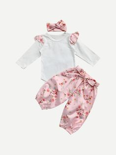 Responsible Pudcoco Hot Newborn Infant Baby Girl Flower Romper Long Sleeve Jumpsuit+leg Warmers 3pcs Outfits Set Selected Material Bodysuits & One-pieces