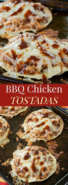 BBQ Chicken Tostadas - a quick and easy family dinner recipe.- BBQ Chicken Tostadas – a quick and easy family dinner recipe everyone will love - Easy Bbq Chicken, Breaded Chicken, Boneless Chicken, Recipe Chicken, Butter Chicken, Garlic Butter, Roasted Chicken, Rotisserie Chicken Meals, Bbq Chicken Sides