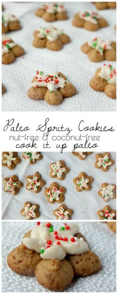 Paleo Spritz Cookies made with Otto's Naturals Cassava Flour | Cook It Up Paleo