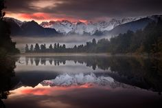 Mystic Dawning Reflections, #Landscapes & #Scenery, #Mountain, #Plants & #Nature, #Waterscapes