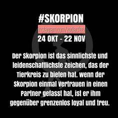 Treue ist geil! Weiter so liebe Skorpione!  #sternzeichen #horoskop #Skorpion…                                                                                                                                                                                 Mehr