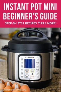 Instant Pot Mini Beginner's Guide - Find easy recipes and tips to get you started cooking with your 3 Quart Instant Pot Duo Mini. Easy recipes and tips to get you started cooking with your 3 Quart Instant Pot Duo Mini. Cooking For A Group, Cooking Chef, Fun Cooking, Cooking Time, Cooking Recipes, Italian Cooking, Cooking Gadgets, Cooking Light, Baby Cooking