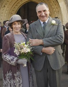 And the bride wore mauve! Downton Abbey's Mr Carson and Mrs Hughes will wed in Sunday night's episode