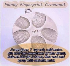 Family fingerprint ornaments........could use for Christmas ornament, key chain, etc.