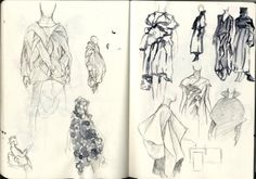 Fashion Sketchbook - fashion design drawings; dress sketches; research on Japanese fashion designers; fashion portfolio // Cal Hoy