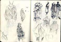 66 Trendy Fashion Sketches Book Research Fashion Design Drawings, Fashion Sketches, Fashion Illustrations, Fashion Books, Fashion Art, Fashion Check, Japanese Fashion Designers, Dress Sketches, Fashion Sketchbook