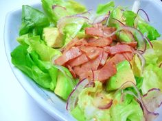 Lettuce and Avocado Salad with Japanese-Style Bacon Dressing Recipe on Yummly. @yummly #recipe