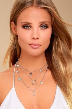#Lulus - #Lulus Whistling Winds Silver Layered Necklace - AdoreWe.com