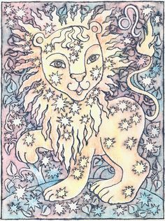 Zodiac Signs Leo Painting by Asya Ostrovsky - Zodiac Signs Leo Fine Art Prints and Posters for Sale