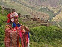 Quechua flute player
