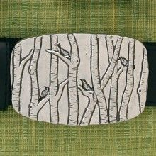 Birch Tree Belt Buckle by Basic Spirit. American Made. See the artist's work at the 2014 Buyers Market of American Craft, Philadelphia, PA. January 18-21, 2014. americanmadeshow.com
