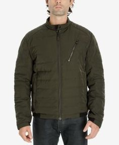 Michael Michael Kors Men's Quilted Bomber Jacket - Green XXXL