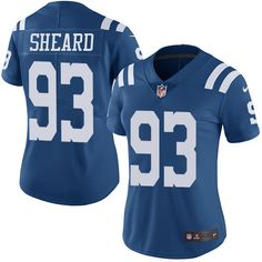 Women's Nike Indianapolis Colts #93 Jabaal Sheard Limited Royal Blue Rush NFL Jersey