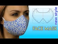 Sewing Patterns Free, Sewing Tutorials, Sewing Hacks, Sewing Crafts, Sewing Projects, Easy Face Masks, Diy Face Mask, Crochet Hammock, Diy Mask