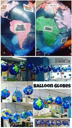 Geography – Balloon Globes – World Maps Have a blast while learning with this hands on map skills and geography. Geography Classroom, Geography For Kids, Geography Activities, Geography Map, Geography Lessons, Teaching Geography, Earth Day Activities, History Classroom, World Geography