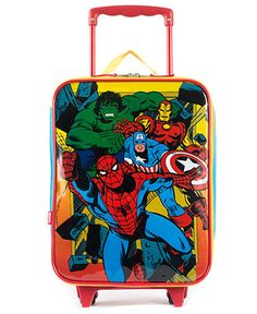 Spiderman #trolley suitcase hand luggage pocket #satchel #school ...