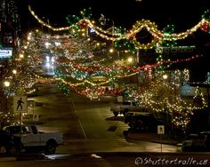 Ladysmith, BC Christmas Lights. Make a tradition to go for a walk in Ladysmith at the first snow of the season