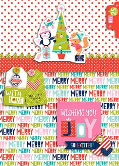 Bella Blvd Holly Jolly Christmas Collection | Wishing You Joy (DIGITAL) card by Krista Lund