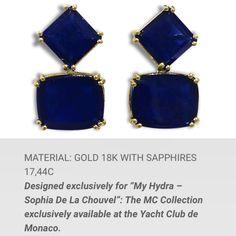 Patseas earrings for myhydrasophiadelachouvel available at Yacht Club of Monaco
