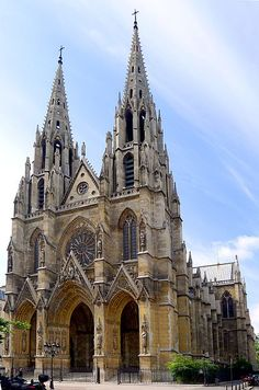 Basilique Saint-Clotilde, Paris, France completed in  1857, is an example of neo-Gothic style. It is best known for its spires and its Aristide Cavaille-Coll organ. by Mbzt