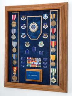 Military Medals Display Case Shadow Box by AllAmericanGifts